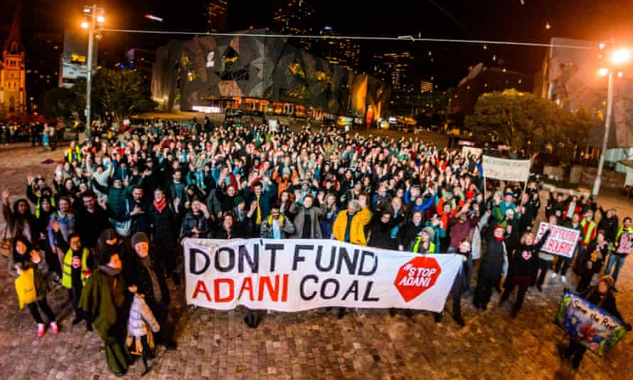 Anti-Adani protesters at the screening of Guarding the Galilee