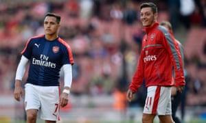 Alexis Sánchez and Mesut Özil