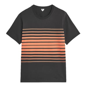 Black and orange stripe T-Shirt. £20, arket.com