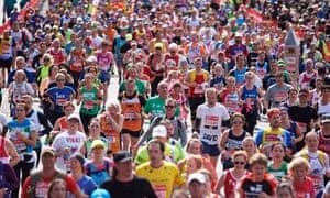 Participants in the 2016 London marathon