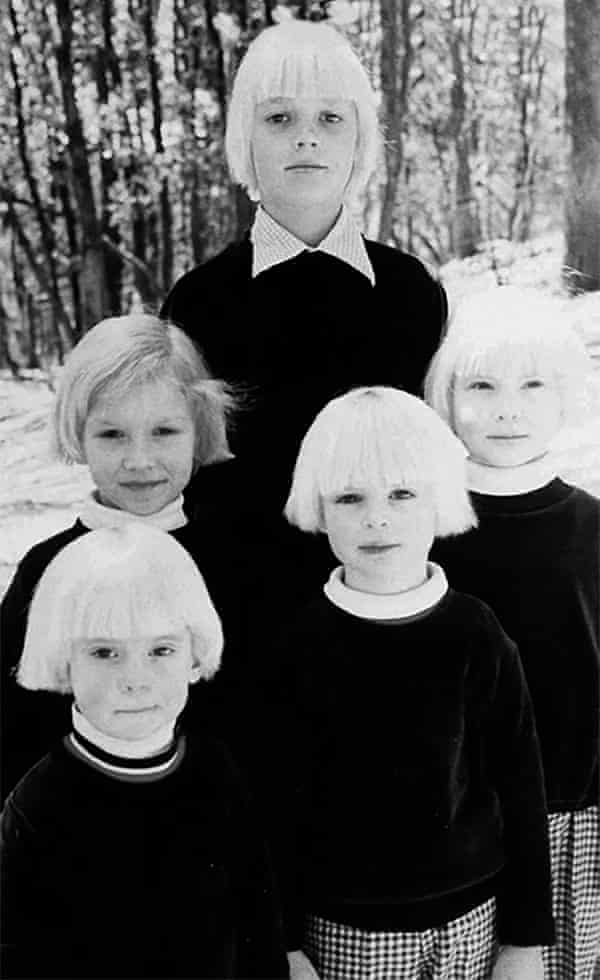Five boys with bleached-blond hair who believed they were Anne and Bill Hamilton-Byrne's children