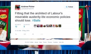 Fisher's tweet about Ed Balls.
