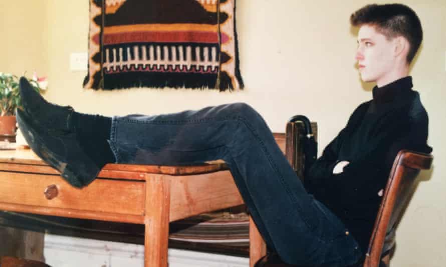 Jes Fernie in Edinburgh in 1986 with flattop haircut and winklepickers
