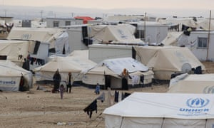 Syrian refugees in the UN-run Zaatari refugee camp, north east of the Jordanian capital Amman.