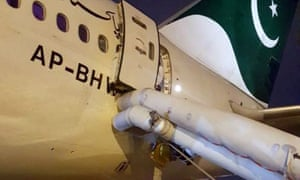 Plane's evacuation slide