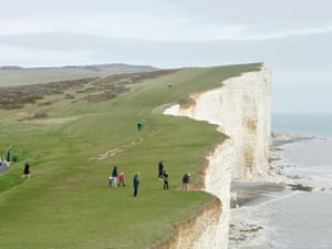 Beachy Head, Seven Sisters Country Park, East Sussex, 14 March 2017For over a decade, I have been photographing events and places across Britain that have drawn people together in public. I took this photograph the week Theresa May triggered Article 50. The Seven Sisters cliffs are symbolic of Britain. In the last 12 months they have also become a symbol of Britain's separation from Europe. All photographs: Simon RobertsMerrie Albion – Landscape Studies of a Small Island is on view at Flowers Gallery, London E2. A book to accompany the exhibition has been published by Dewi Lewis Publishing.