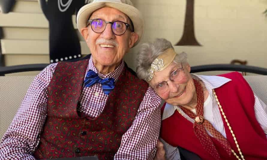 'We found that in each other – companionship.' Stella and Cecil Renfield at Cecil's 99th birthday bash in 1920s fancy dress .