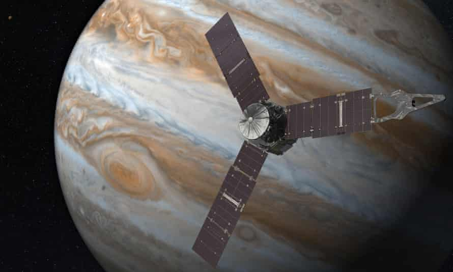 Artist's impression of Juno in orbit.