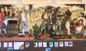 A mural at George Washington high school.