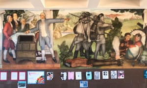 A mural at George Washington high school in San Francisco.
