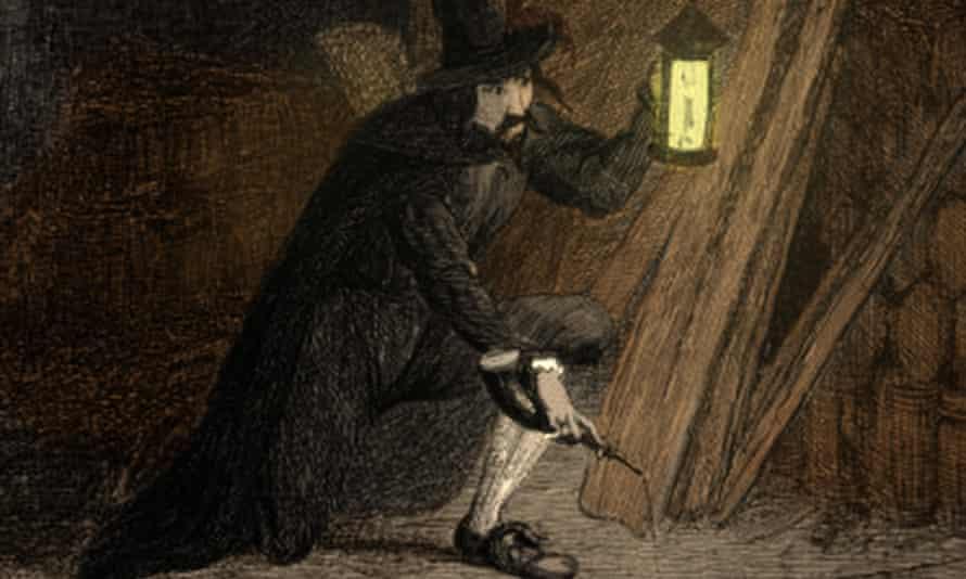 Guy Fawkes … Fraser begins with the Gunpowder Plot.