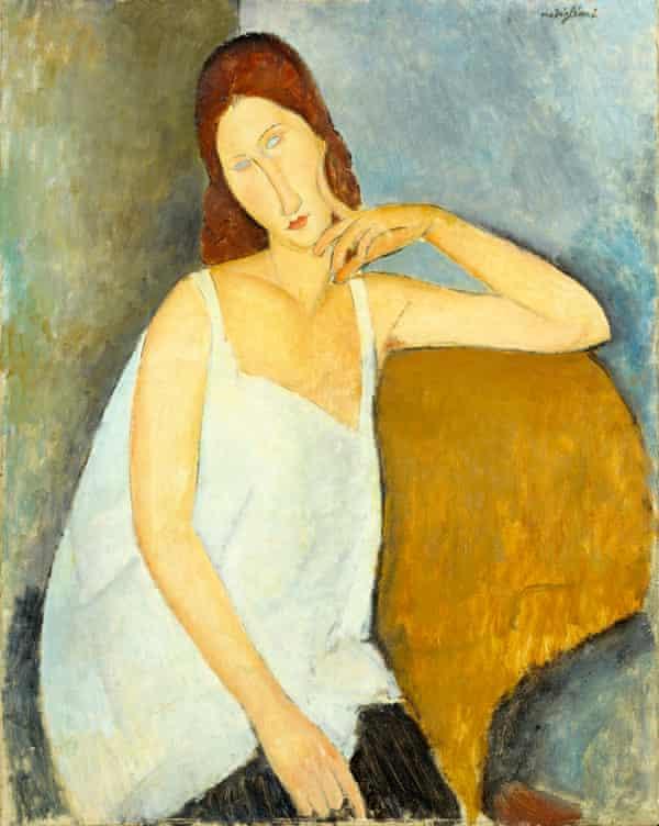 Modiglian's partner Jeanne Hebuterne, 1919.