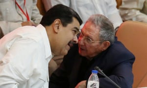 Nicolás Maduro and Raúl Castro