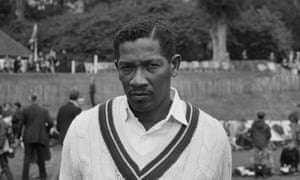 Basil Butcher in May 1969 on the West Indies tour of England, after which he retired from Test cricket at the age of 37.
