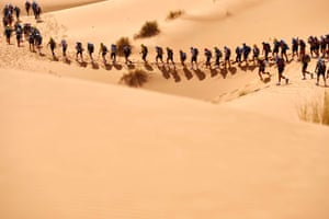 Competitors take part in the 31st edition of the Marathon des Sables.