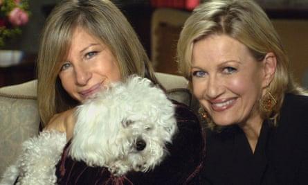 Barbra Streisand, left, with her dog Samantha in 2005.