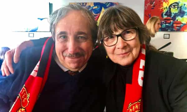 Alan Masters and Anita Bromley after David's funeral earlier this year.