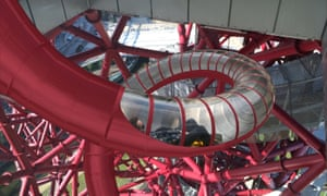 Rapid decline … a CGI of the proposed ArcelorMittal Orbit slide.