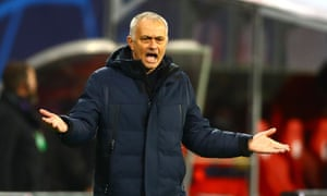 José Mourinho watches on helplessly as Spurs exited with a whimper.