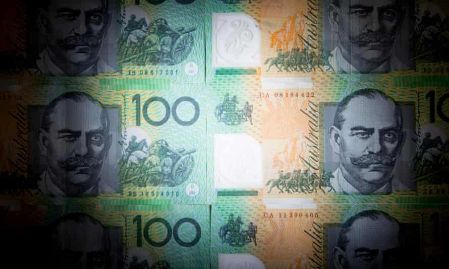 Australian$100 banknotes.