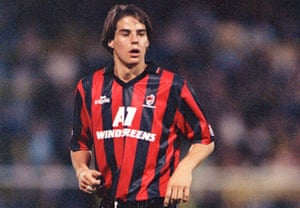 Jamie Redknapp in action for Bournemouth.