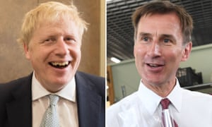 Boris Johnson and Jeremy Hunt are answering questions in a live online hustings.