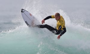 Mick Fanning in action at the Moche Rip Curl Pro in Portugal on Friday.
