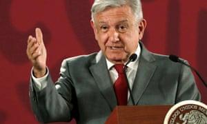 Andrés Manuel López Obrador speaks in Mexico City.