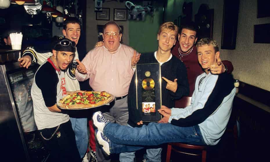 Lou Pearlman and 'NSync in Miami, 1996.