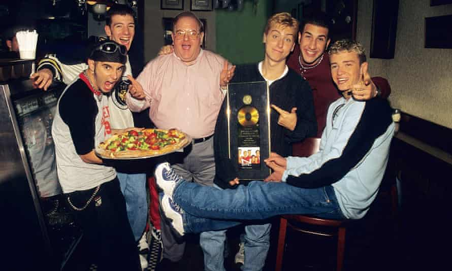 Lou Pearlman with members of Nsync
