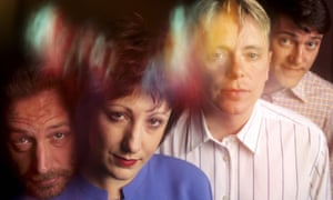 New Order … with Peter Hook (left) in happier days.
