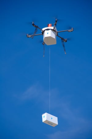 Flirtey's drone makes the first fully autonomous, FAA-approved urban drone delivery in Hawthorne, Nevada.