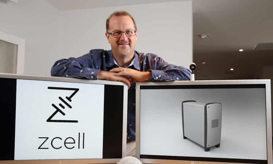 Redflow's executive chairman, Simon Hackett, with the ZCell