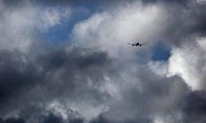 A British Airways plane leaves Heathrow airport