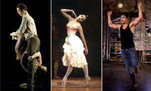 'Everything happens in super slow motion' … dancers Jonathan Goddard, Darcey Bussell and Adam Garcia.