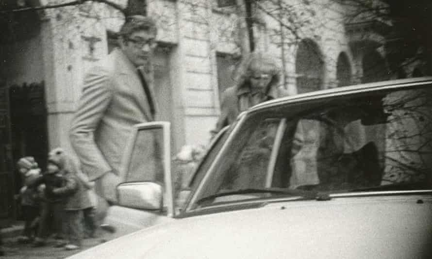 Abu Daoud pictured with a woman 24 hours before being forced to leave Czechoslovakia.