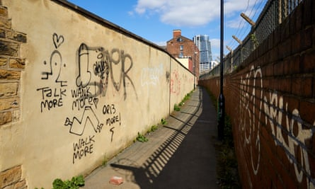 The designated safe passageway through the Holbeck area
