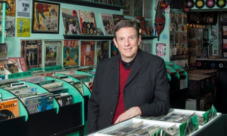 Ted Kessler in a record shop