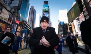 Boris Johnson Times Square