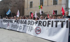 Demonstration against TTIP in Rome, 7 May