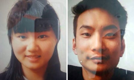 Two Chinese nationals Li Xinheng and Lu Ling Lina who were abducted by unknown armed men, in Quetta, the provincial capital of restive Balochistan province, Pakistan.
