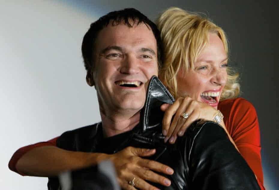 Quentin Tarantino and Uma Thurman in 2003