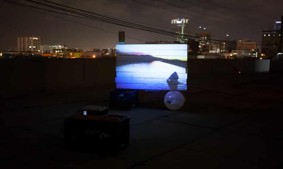 Gait, an alternative art space on a rooftop on an office building in downtown Los Angeles Mickey Everett + Daniel Schubert, drifting water and power