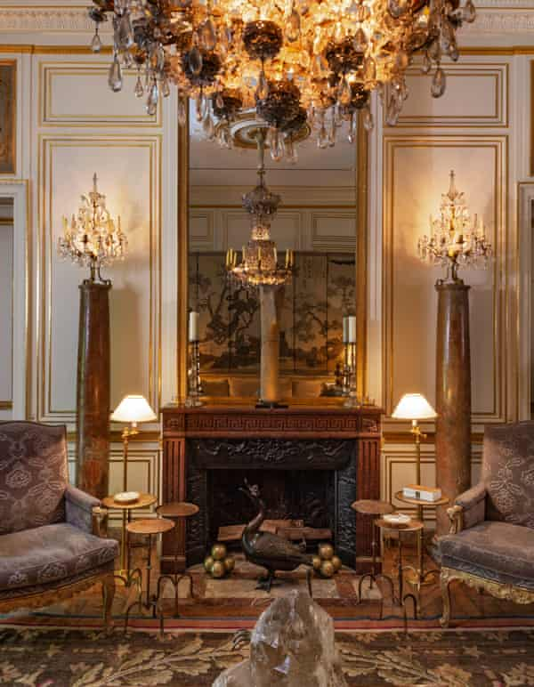 A room in Bergé's former home on Rue Bonaparte, Paris.