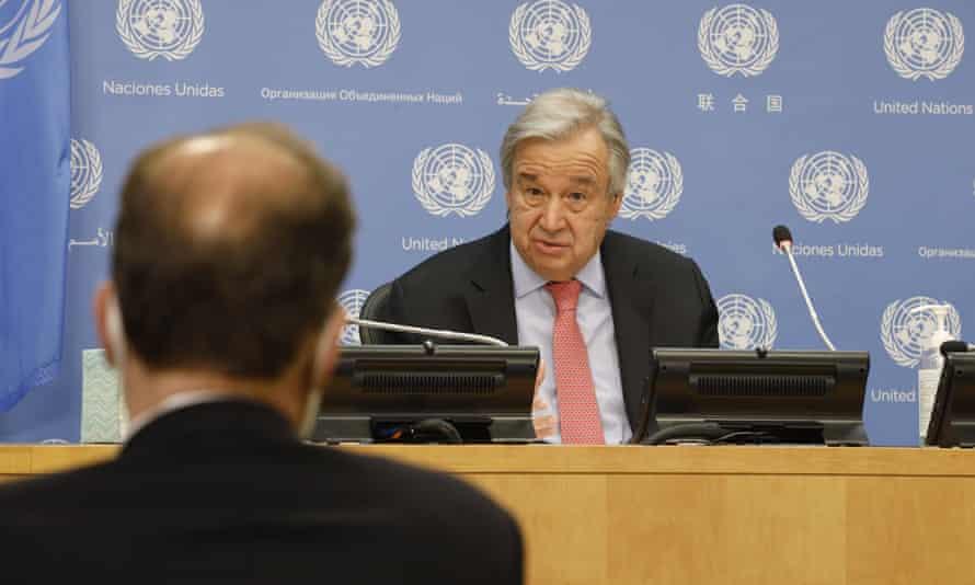 The UN secretary general, António Guterres