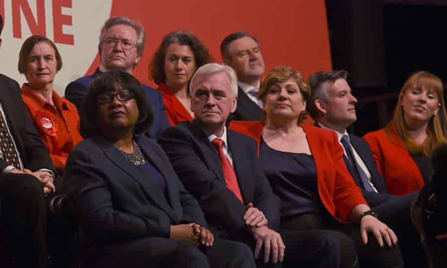 John McDonnell flanked by Diane Abbott and Emily Thornberry
