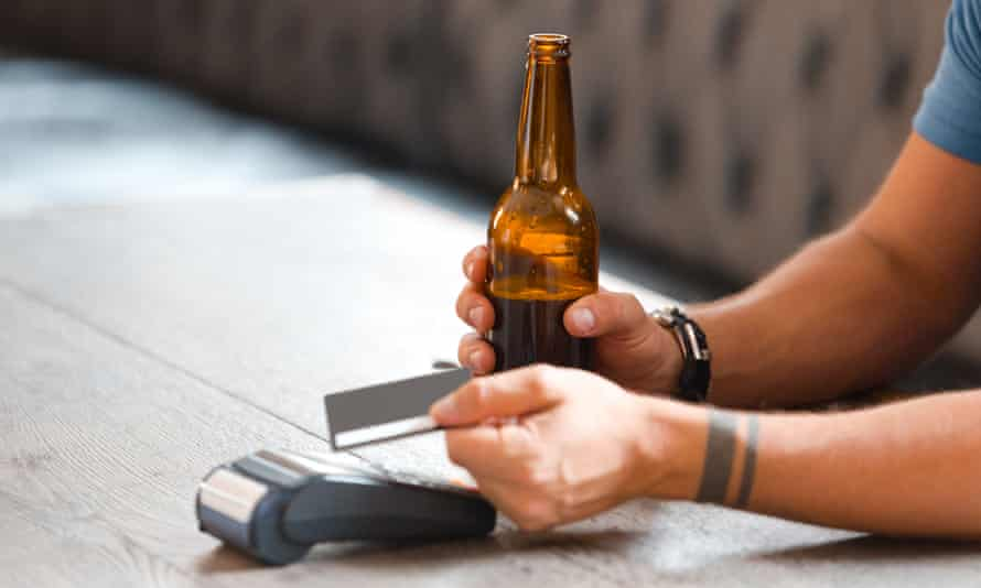 Contactless payment in pub