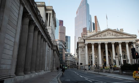 Threadneedle Street in London and the Bank of England