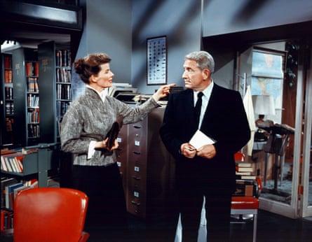 Katharine Hepburn and Spencer Tracy in Desk Set