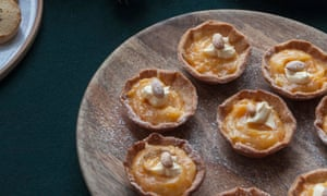 Jeremy Lee's clementine curd tarts.